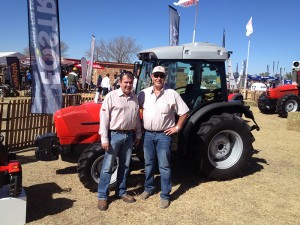 Eugene Jonker, GM of Eqstra Agricultural Equipment pictured with Walter Hill, CEO of Eqstra Holdings