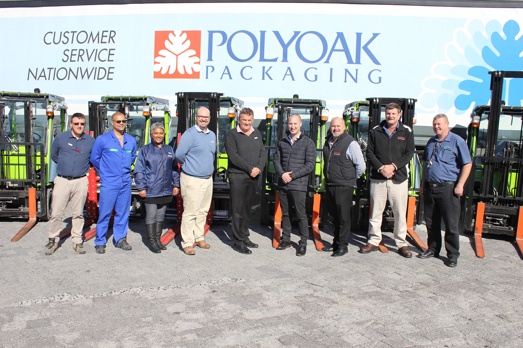 POLYOAK PACKAGING GOES GREEN WITH TOYOTA FORKLIFT