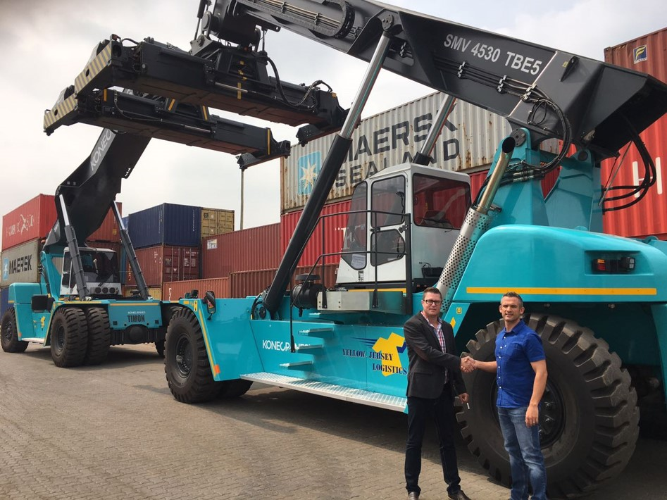 YELLOW JERSEY LOGISTICS CONTINUES TRUST IN KONECRANES REACH TRUCKS FROM EIE